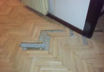 Reparación de suelo con carcoma